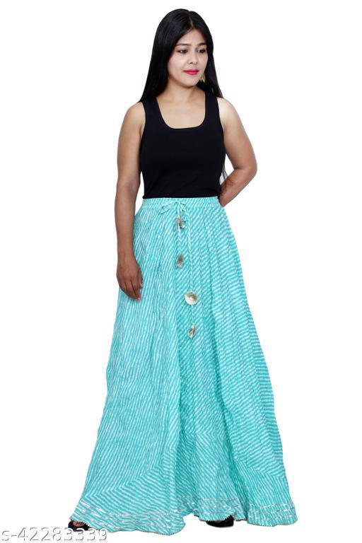 CRAFTERA Lahariya Printed Cotton Flared Skirt