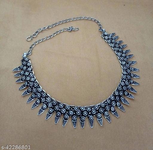 Fancy Oxidised Necklace Set