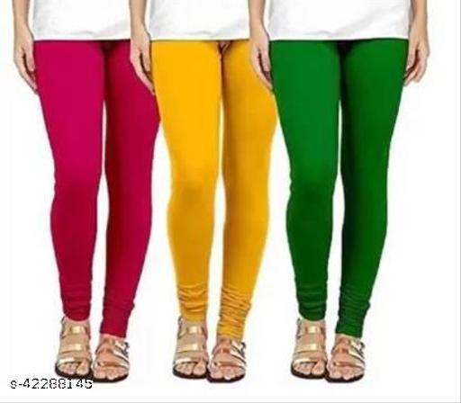 Premium Lyra Length Women Leggings (RANI+YELO+GRN)