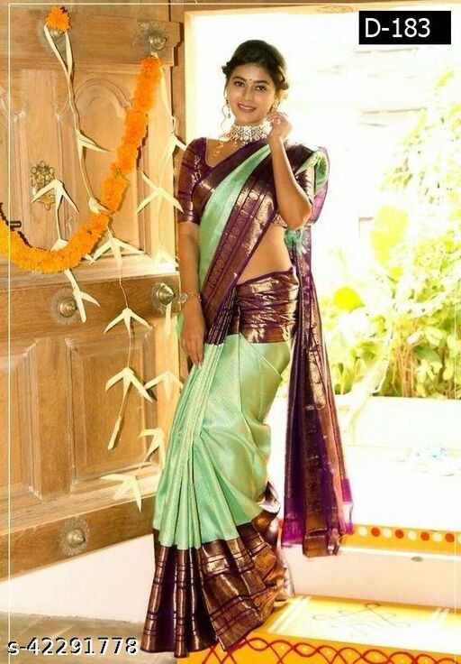 Deetya Fashion Women's Soft Silk Blend Saree With blouse piece