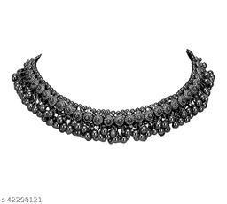 fancy black chain necklace