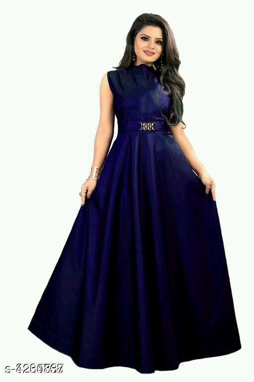 Attractive Taffeta Satin Gown