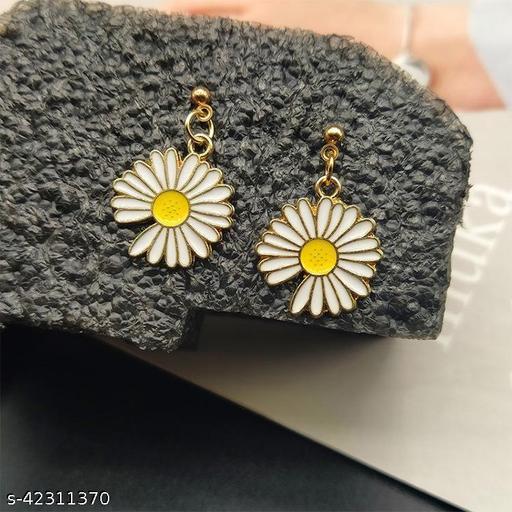 Sunflower Cute Summer Girl Earrings