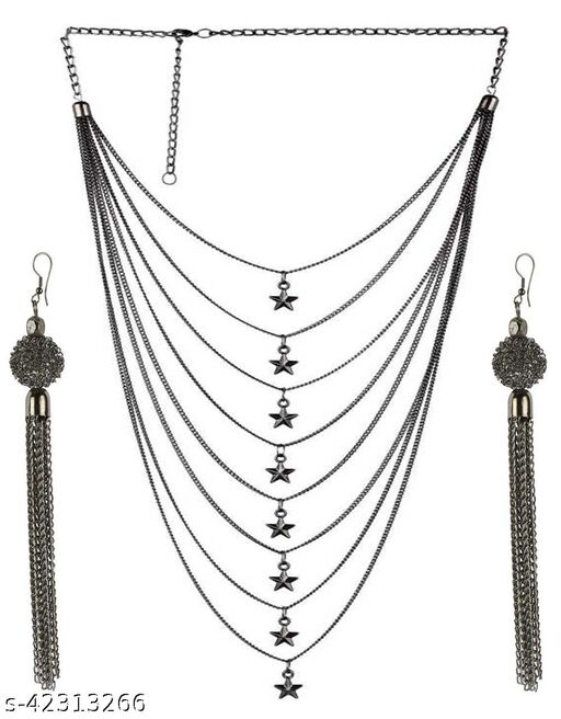 PRASUB top Trendy designer star necklace for Women's Jewellery Set