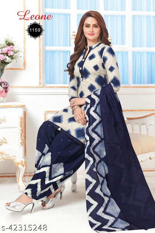 Krishnaa Creation Party Wear Crepe Fabrics Dress Material Suit Salwar For Women & Girl For All Occasion