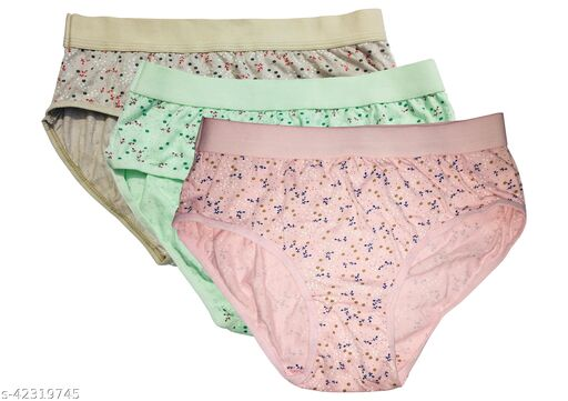 Stylish & Comfortable Women Multicolor Panties (Pack of 3)