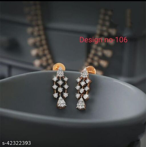 Rakshabandhan Special American Diamond Pretty Erarings gift
