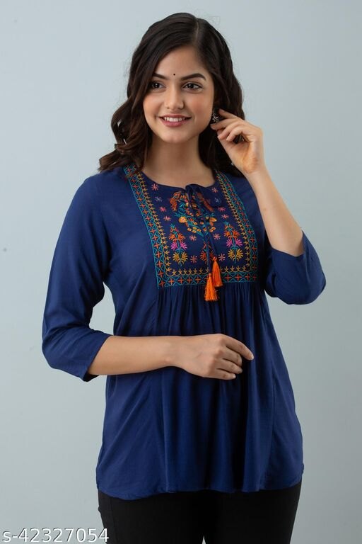 Woman Care Embroidered Tops