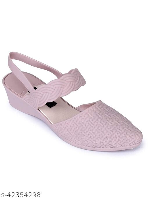 AaoJao Women's Sandal Indoor House or Outdoor Latest Fashion Pink Casual Sandal For Women and Girls (678 Belly_Pink-AJO)