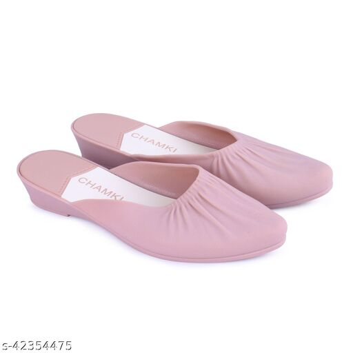 WMK Baby Pink Casual Belly | Comfortable Light Weight Bellies for Girls and Women