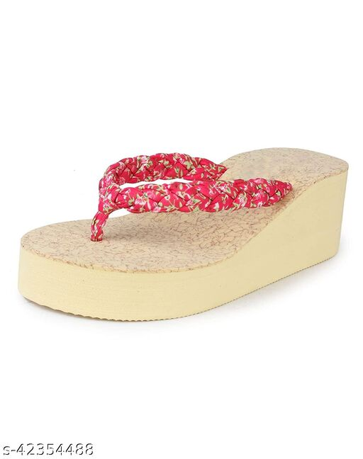 WMK Women's Slippers Indoor House or Outdoor Latest Fashion Red Casual FlipFlop Slipper For Women and Girls