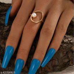 Western Simple Pearl Geometric Women Ring