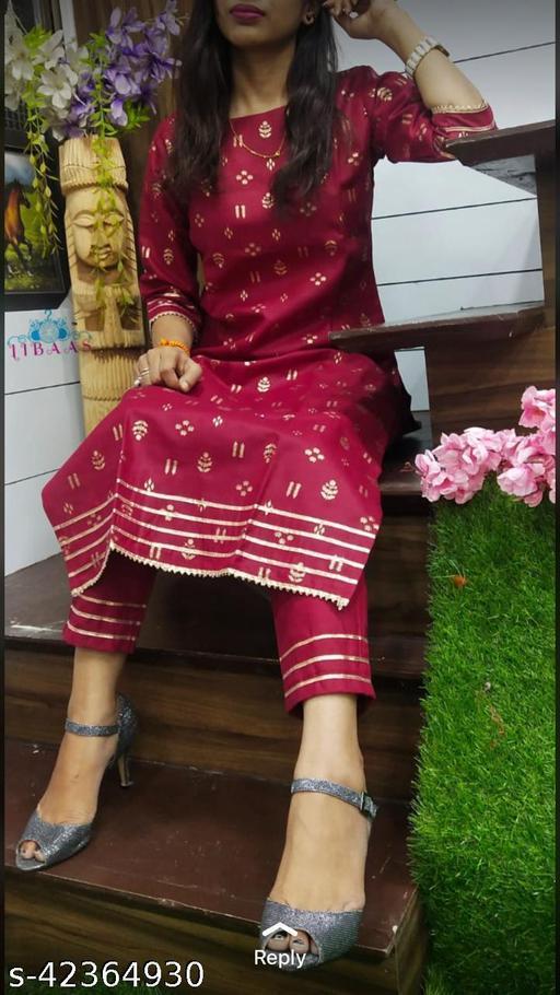 stylish embriodery printed kurta set