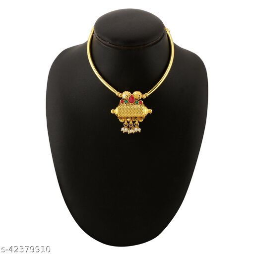 Trendy Gold Plated Pipe Thushi  (Adjustable)