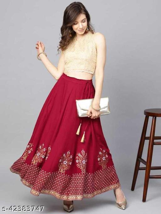 Charvi Ensemble Women Ethnic Skirts