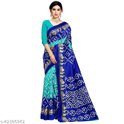 Beautiful Lichi Print Saree With Blouse For Beautiful Look