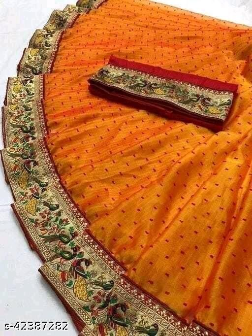 Newly Lauch Border Blouse Concept Saree