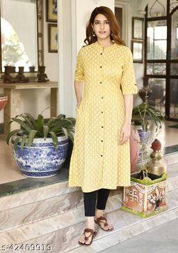 Women's Cotton katha Kurta