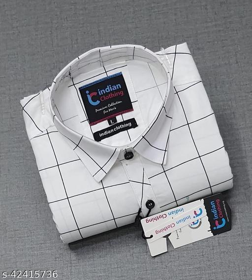 CAB Men's Cotton Single Check full Sleeve Shirts