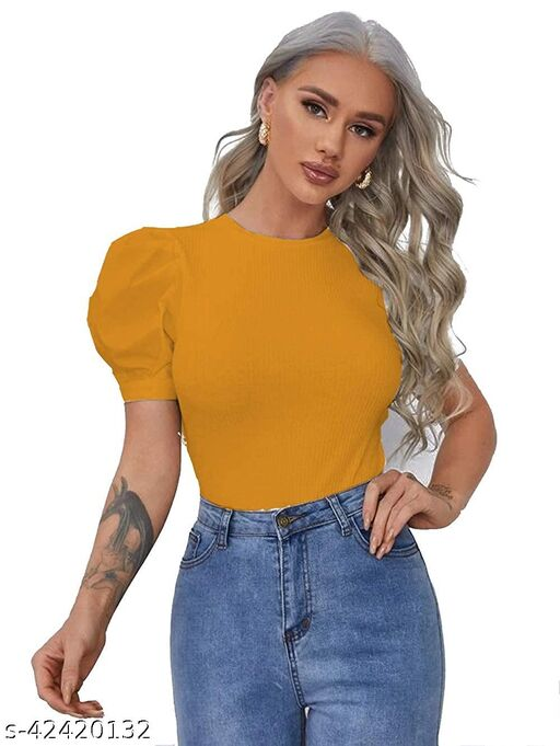Preety Half puff sleeve top for women and girls