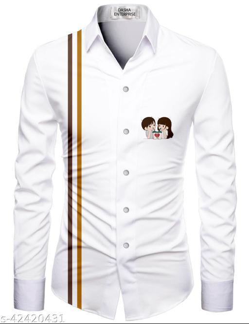 Trendy Men Couple Shirt Fabric (Unstitched)