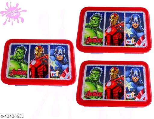 AVENGERS Printed Tiffen Box For Kids Birthday Party,Be Happy Tiffin set for children.