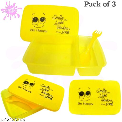 Tiffin Box with Fork and Spoons with 2 Compartment and New year return gift.