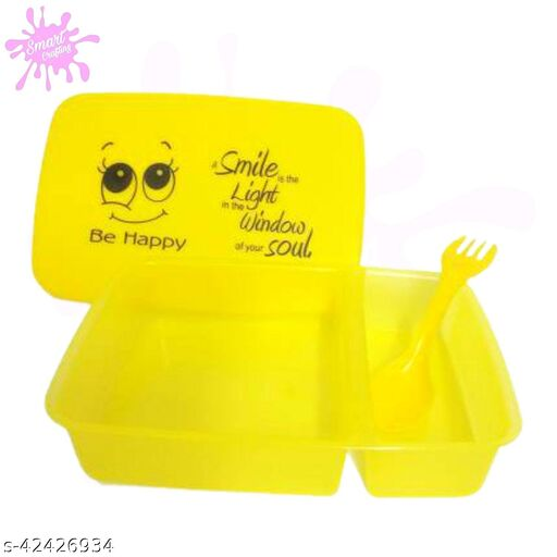 Be Happy Tiffin set for children Smiley printed designer tififn boxes, food container for children 1 Containers Lunch Box.