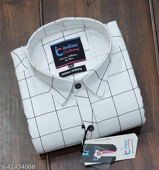 Men's Cotton CHECKS full Sleeve HKG Shirts