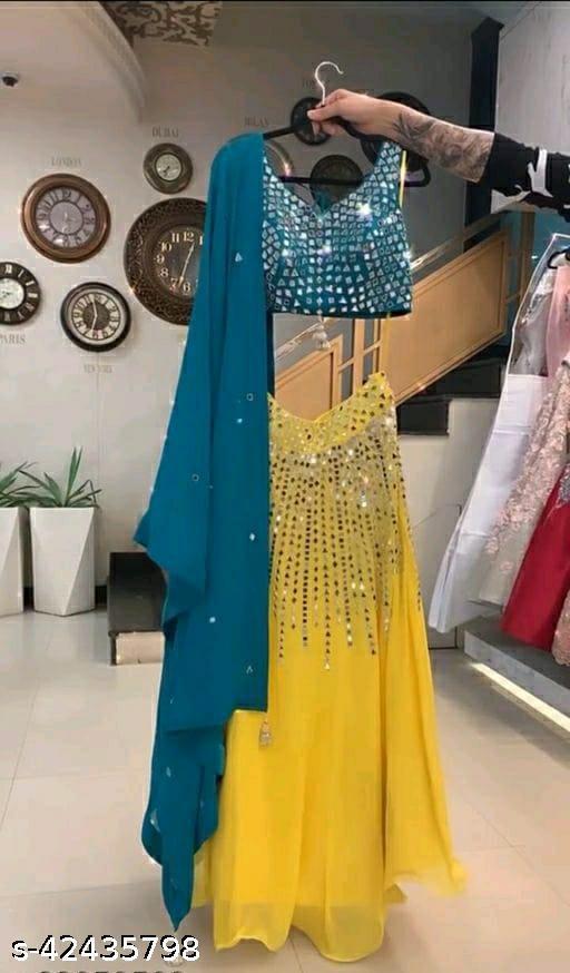 Beautiful Look Lehenga Choli And With Full Of Mirror Work On Lehenga Choli And Dupatta