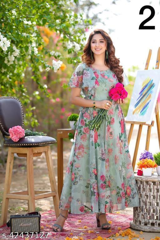 beautiful flower design Gown