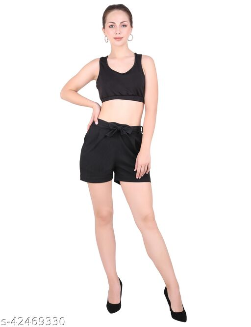 HOUSE OF LIBAAZ Regular Cotton Flex Shorts For Womens