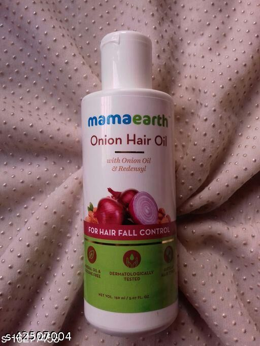mamaearth Onion Hair Oil for Hair Regrowth and Hair Fall Control with Redensyl, 150ml Mamaearh oil