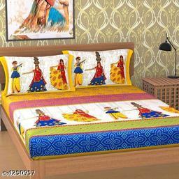 Divine Classy Cotton Double Bedsheets