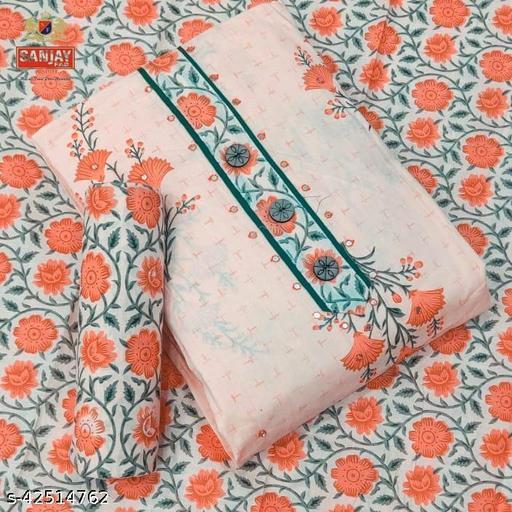 Sanjay Fab, 100% Pure Cotton, Majestic Floral Prints