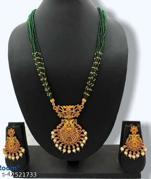 Twinkling Colorful Mangalsutras Jewellery Set