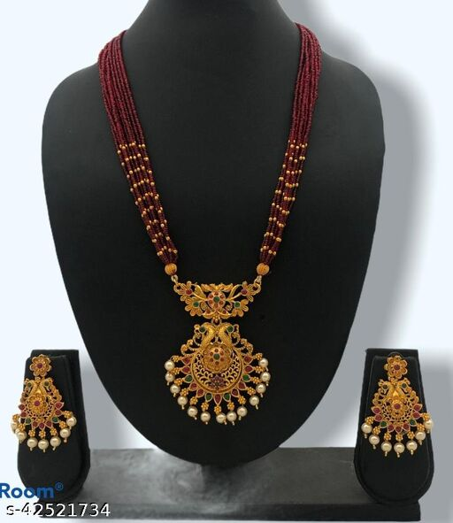 Shimmering Chunky Mangalsutras Jewellery Set