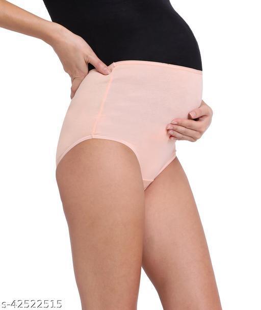 Women Hipster Peach Cotton Blend Panty