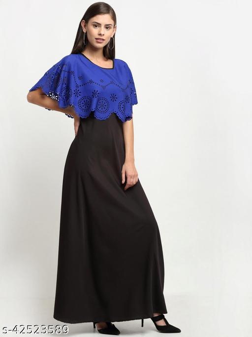 Leaser Cut Cape Style Maxi Dress