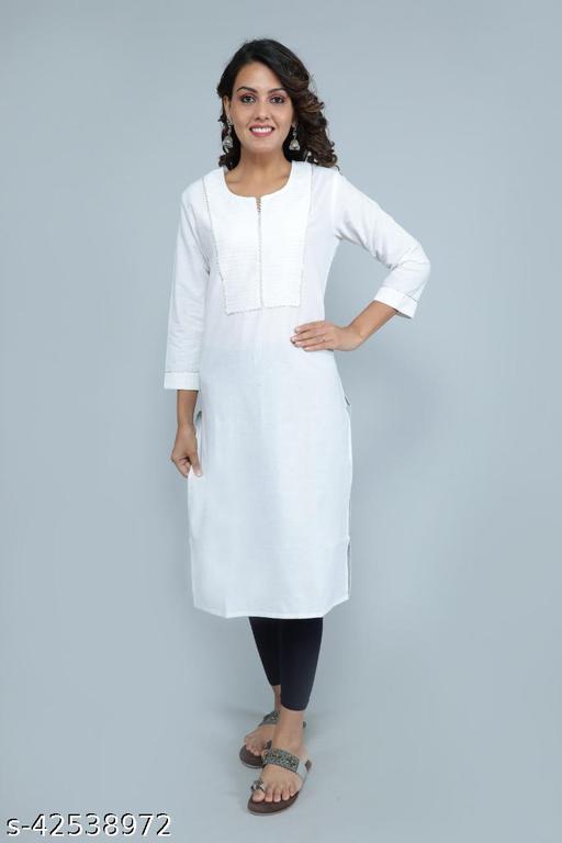 Women  Cotton Straight Kurta