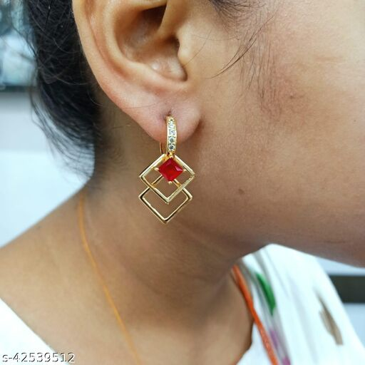 FANCY ROSE GOLD PLATED BALI EARING