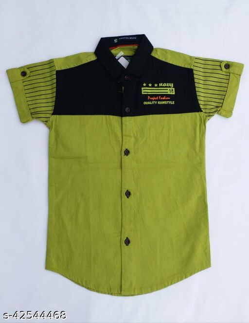 solid design boys shirt