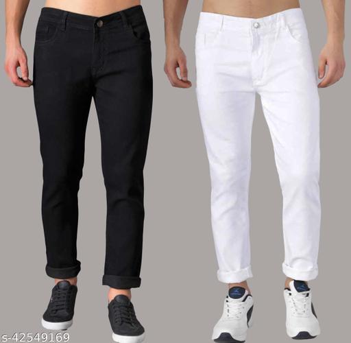 Vaasu black and white pant combo