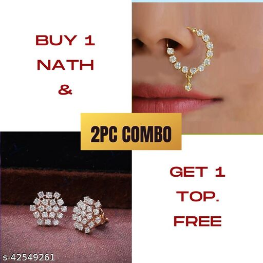 Sizzling Bejeweled Nosepins