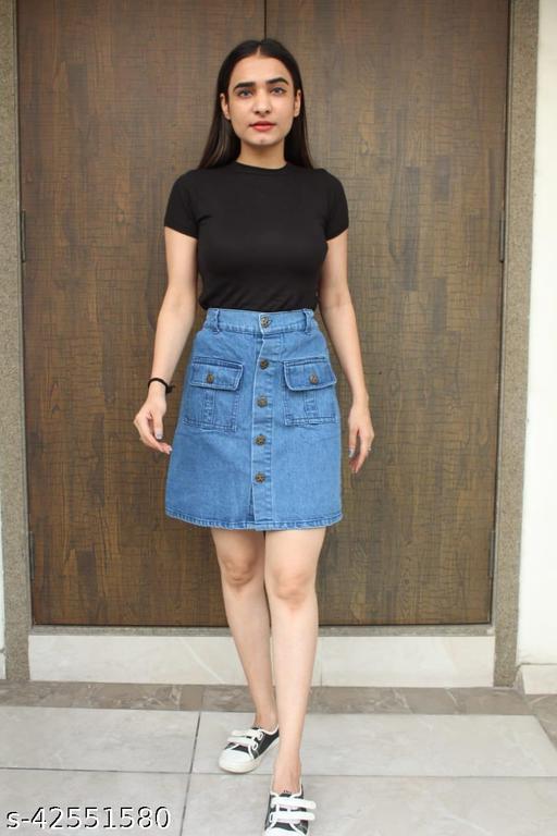 Fancy Latest Women Jeans skirt