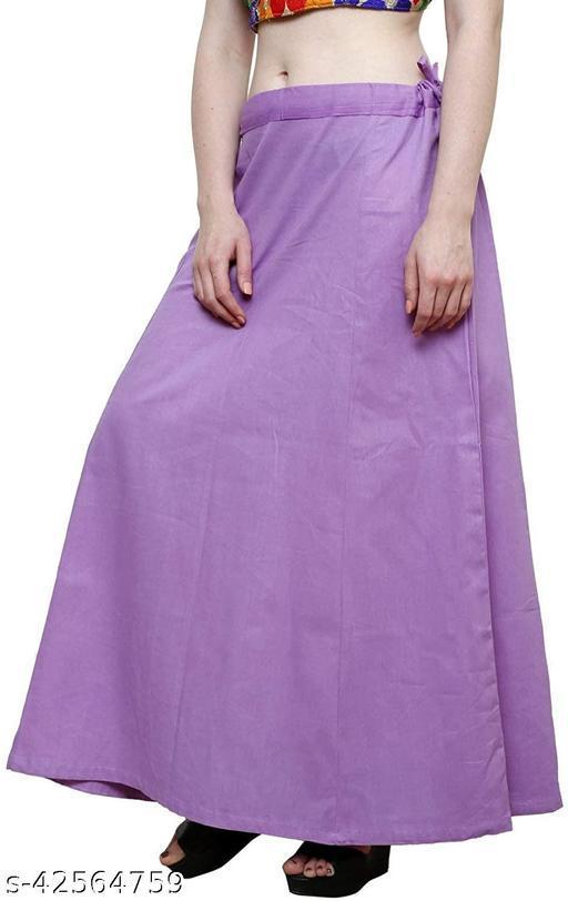 Purple Women's Undercoat Cotton Saree Underskirt Sari Underwear Indian Readymade Petticoats