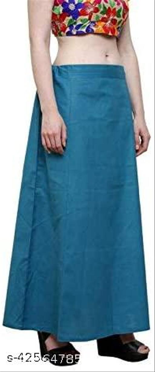 Women's Cotton Saree Underskirt Sari Underwear Saree Petticoats (Dark Grey, 40)