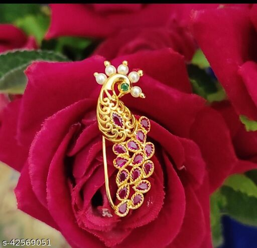 GOLD PLATED FANCY NOESPIN