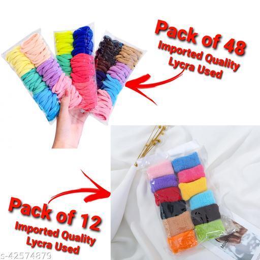 Trendy Women's   Multicolor Acrylic Rubber Band