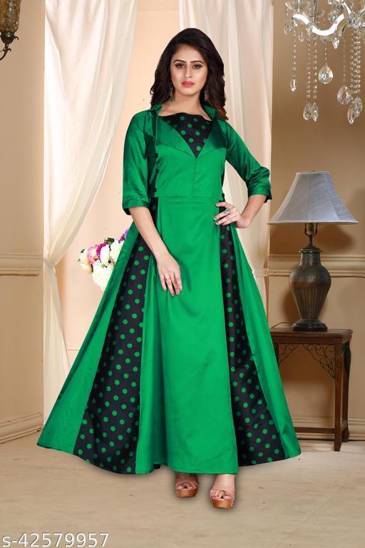Traditional Digital Print Anarkali Gown